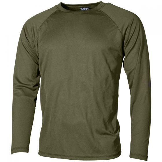 MFH US Level I Gen III Langärmliges Unterhemd OD Green