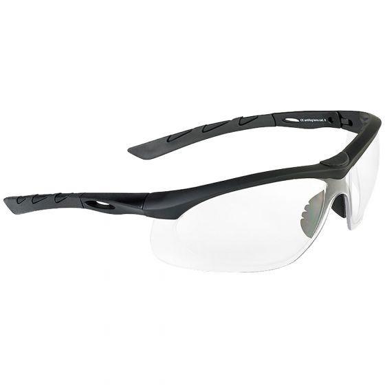 Swiss Eye Lancer Sonnenbrille mit Gläsern in Klar / Gummigestell in Schwarz