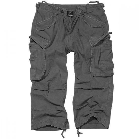Brandit Industry Vintage Shorts mit 3/4-Bein Anthracite