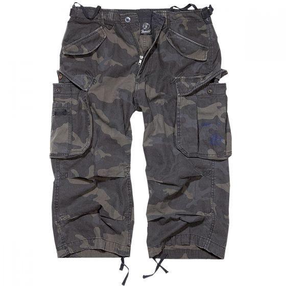 Brandit Industry Vintage Shorts mit 3/4-Bein Dark Camo