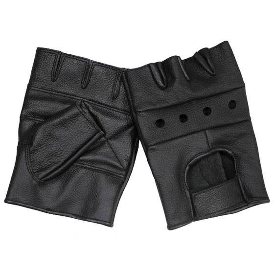MFH Deluxe Lederhandschuhe Schwarz