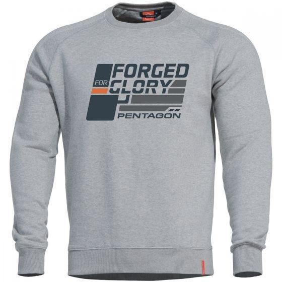 """Pentagon Hawk Sweatshirt mit Aufschrift """"Forged for Glory"""" Melange"""