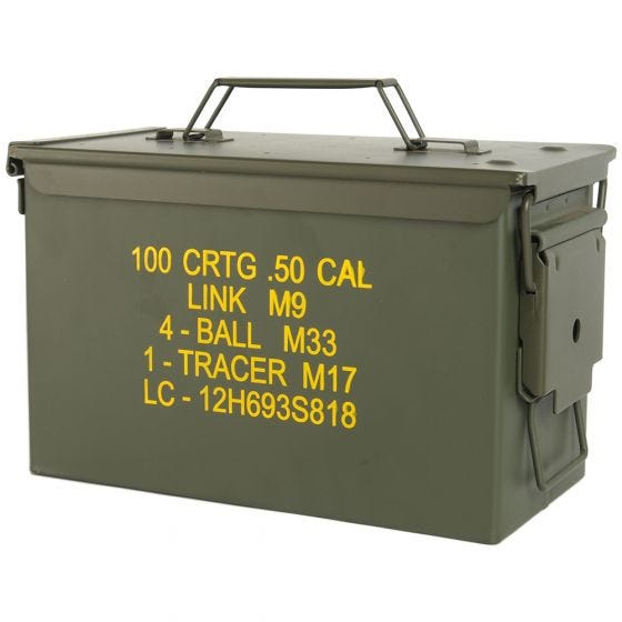 Mil-Tec US Ammo Box M2A1 Cal,50 Munitionskiste Oliv