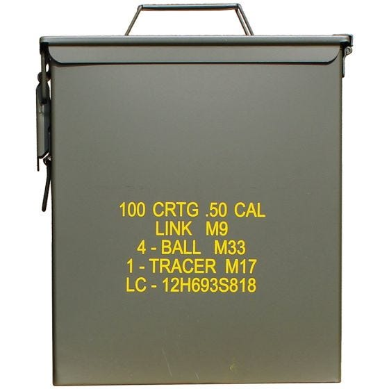 Mil-Tec US Ammo Box M9 Cal,50 Munitionskiste Oliv