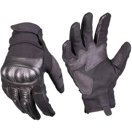 Mil-Tec Gen 2 Taktische Lederhandschuhe Schwarz