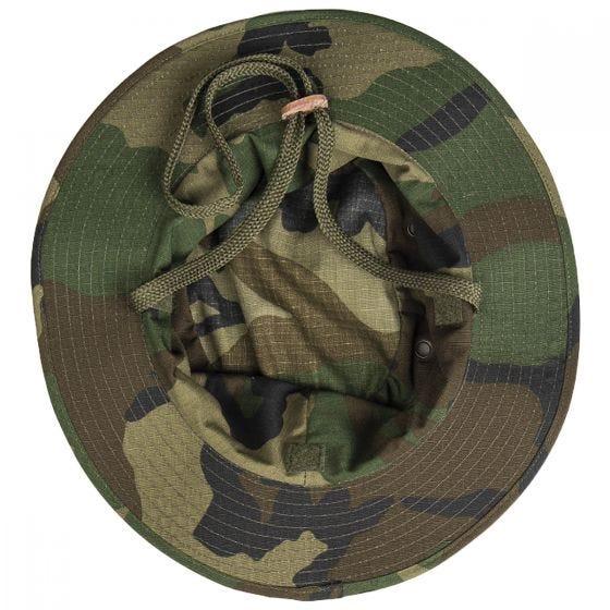 Teesar Britische Boonie-Mütze mit Nackenschutz Ripstop - Woodland