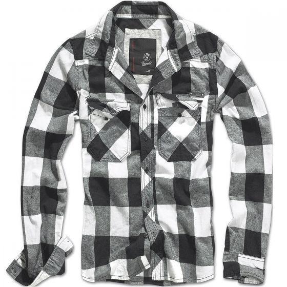 Brandit Hemd mit Karomuster Weiß/Schwarz
