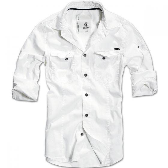 Brandit SlimFit Hemd Weiß