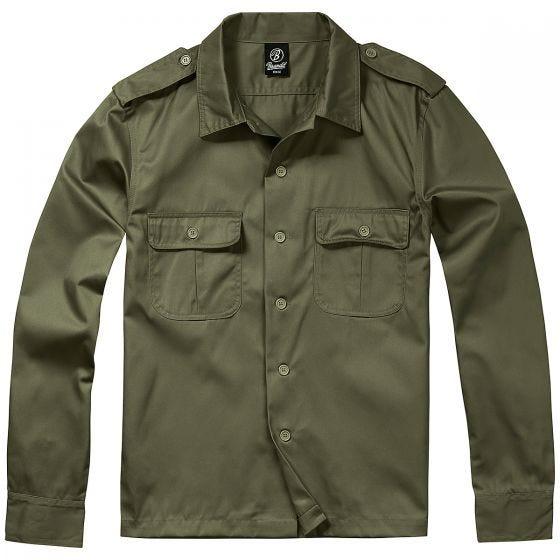 Brandit US Langärmliges Hemd Olivgrün