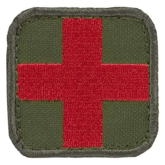 Condor Erste-Hilfe-Patch Olive Drab/Rot