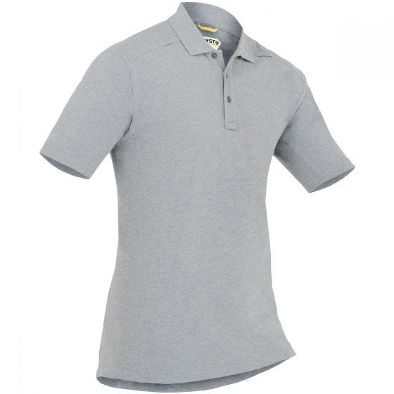 First Tactical Herren Kurzarm-Polohemd aus Baumwolle mit Stifttasche Heather Grey