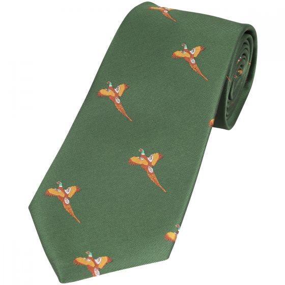 Jack Pyke Krawatte mit Fasan-Motiv Grün