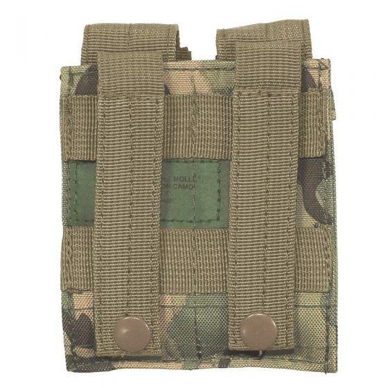MFH 9mm Kleine Doppel-Magazintasche mit MOLLE-Befestigungssystem Operation Camo