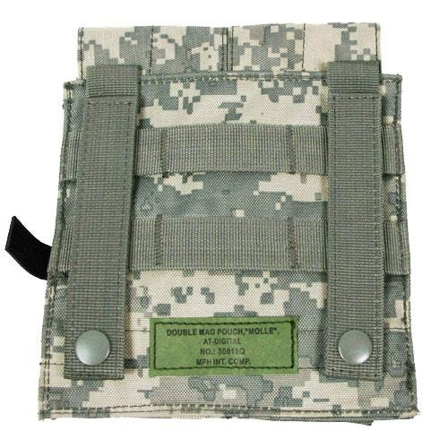 MFH M4/M16 Doppel-Magazintasche mit MOLLE-Befestigungssystem ACU Digital