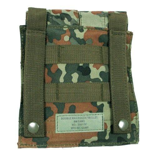 MFH M4/M16 Doppel-Magazintasche mit MOLLE-Befestigungssystem Flecktarn