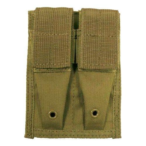 MFH 9mm Kleine Doppel-Magazintasche mit MOLLE-Befestigungssystem Coyote