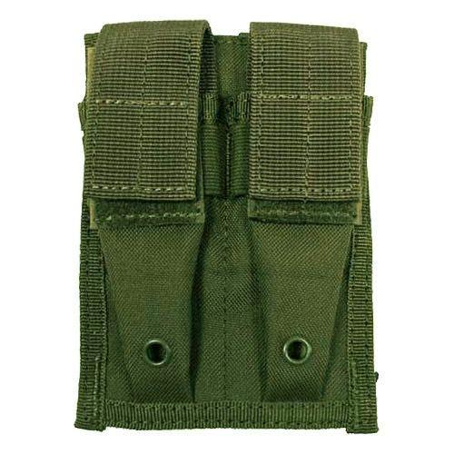 MFH 9mm Kleine Doppel-Magazintasche mit MOLLE-Befestigungssystem Oliv