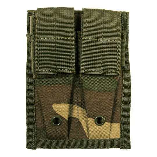 MFH 9mm Kleine Doppel-Magazintasche mit MOLLE-Befestigungssystem Woodland