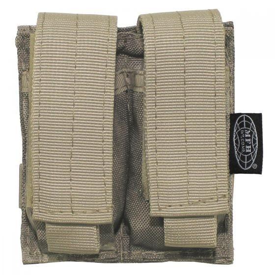 MFH 9mm Kleine Doppel-Magazintasche mit MOLLE-Befestigungssystem HDT Camo AU