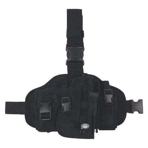 MFH Beinholster mit Taschen & MOLLE-Befestigungssystem Schwarz