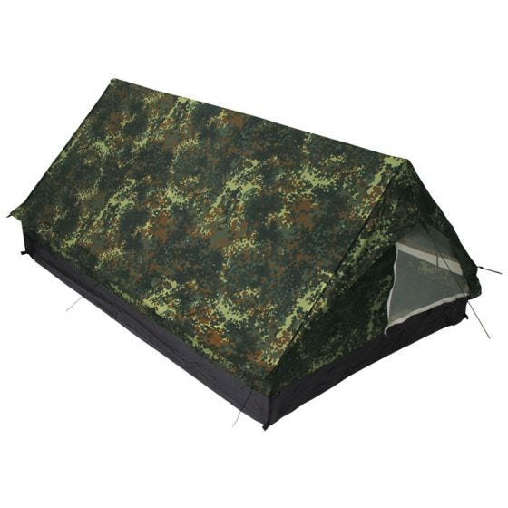 MFH Minipack 2-Personen-Zelt mit Moskitonetz Flecktarn