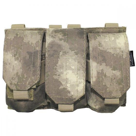 MFH Dreifach-Magazintasche für M4/M16 mit MOLLE-Befestigung HDT Camo AU