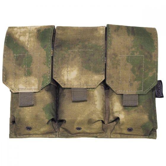 MFH Dreifach-Magazintasche für M4/M16 mit MOLLE-Befestigung HDT Camo FG