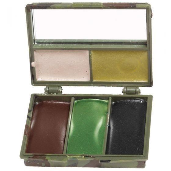Mil-Tec Tarnschminke 5 Farben Etui mit Spiegel Woodland