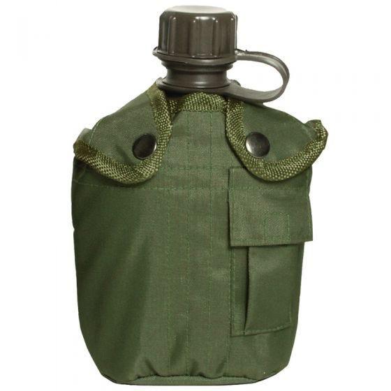 Mil-Tec Feldflasche mit Hülle 1 Liter Oliv