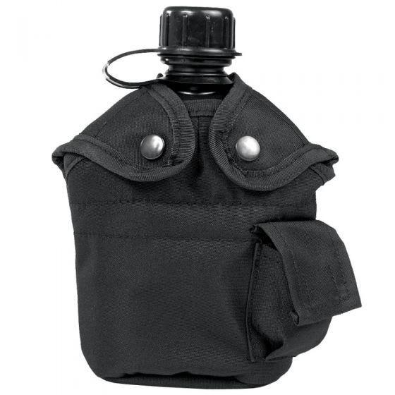 Mil-Tec US Feldflasche und Becher Schwarz