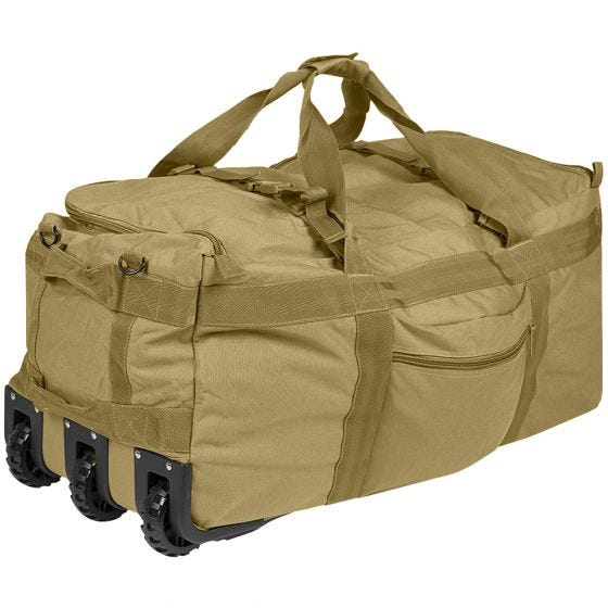 Mil-Tec Combat Reisetasche mit Rollen Coyote