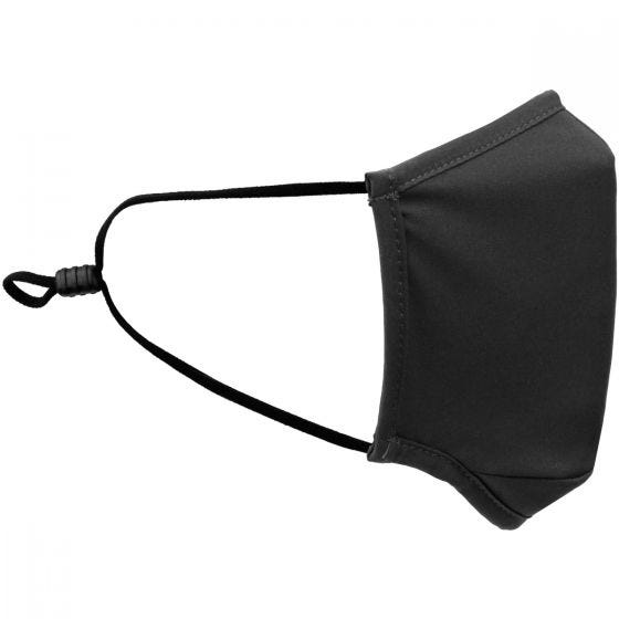 Mil-Tec Mund-/Nasenschutz, quadratisch Elastisch - Schwarz
