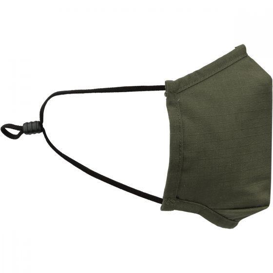 Mil-Tec Mund-/Nasenschutz, quadratisch Ripstop - Olivgrün