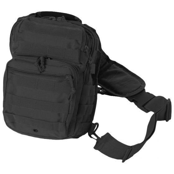Mil-Tec One Strap Assault Pack Small Einsatzrucksack mit einem Träger Schwarz