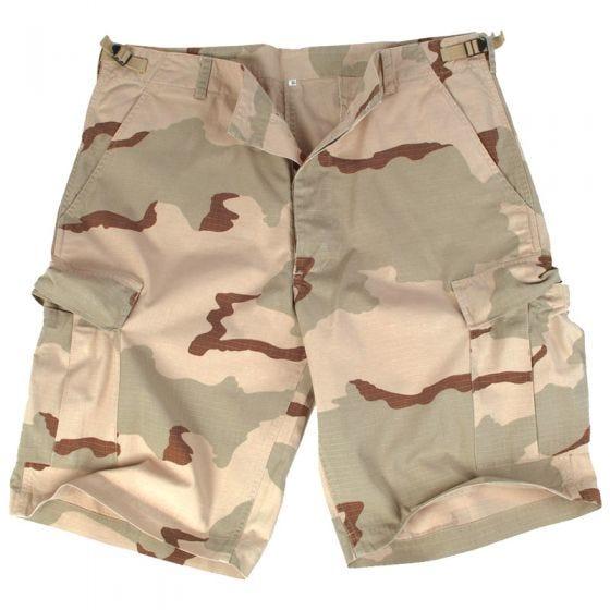 Mil-Tec US Bermuda-Shorts aus Ripstop Prewashed Desert 3 Farben