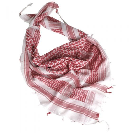 Mil-Tec Shemagh Weiß/Rot