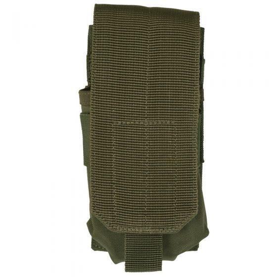 Mil-Tec M4/M16 Einzel-Magazintasche mit MOLLE-Befestigungssystem Oliv
