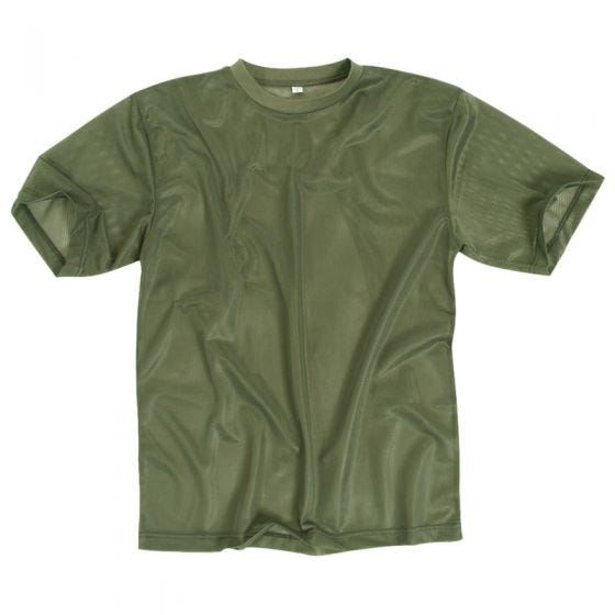Mil-Tec T-Shirt aus Netzstoff Oliv