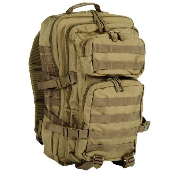 Mil-Tec US Assault Pack Large Einsatzrucksack mit MOLLE-Befestigungssystem Coyote