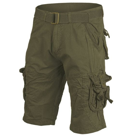 Mil-Tec Vintage Survival Shorts Prewashed Oliv
