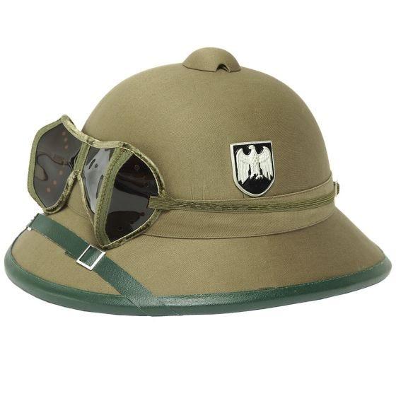 Mil-Tec Wehrmacht Tropenhelm mit Brille