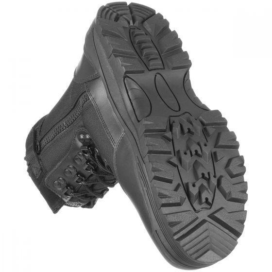 Mil-Tec Taktische Stiefel mit seitlichem Reißverschluss Schwarz