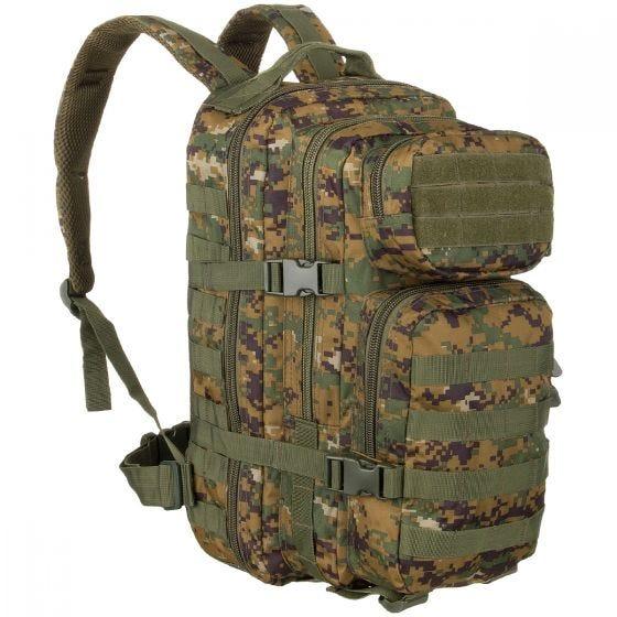 Mil-Tec US Assault Pack Small Einsatzrucksack mit MOLLE-Befestigungssystem Digital Woodland
