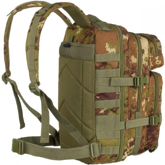Mil-Tec US Assault Pack Small Einsatzrucksack mit MOLLE-Befestigungssystem Vegetato Woodland