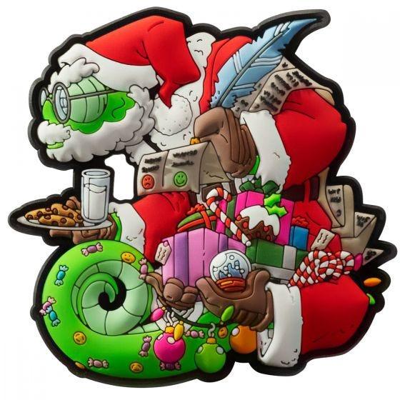 Patchlab Chameleon Christmas Aufnäher - Rot/Grün