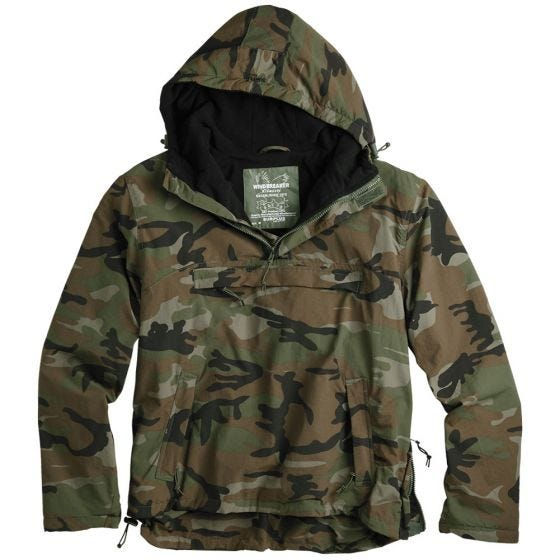 Surplus Windbreaker-Jacke Woodland