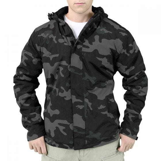 Surplus Windbreaker-Jacke mit Reißverschluss Black Camo