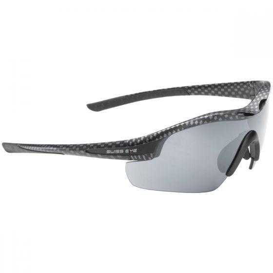 Swiss Eye Novena Sonnenbrille mit 3 Paar Wechselgläsern / Gestell in Carbon Mattschwarz