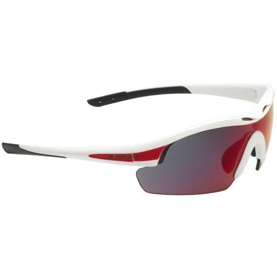 Swiss Eye Novena Sonnenbrille mit 3 Paar Wechselgläsern / Gestell in Weiß-Mattrot