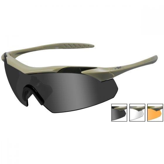 Wiley X WX Vapor Schutzbrille - Glas in Smoke Grey + Transparent + Light Rust / Gestell in Matte Tan